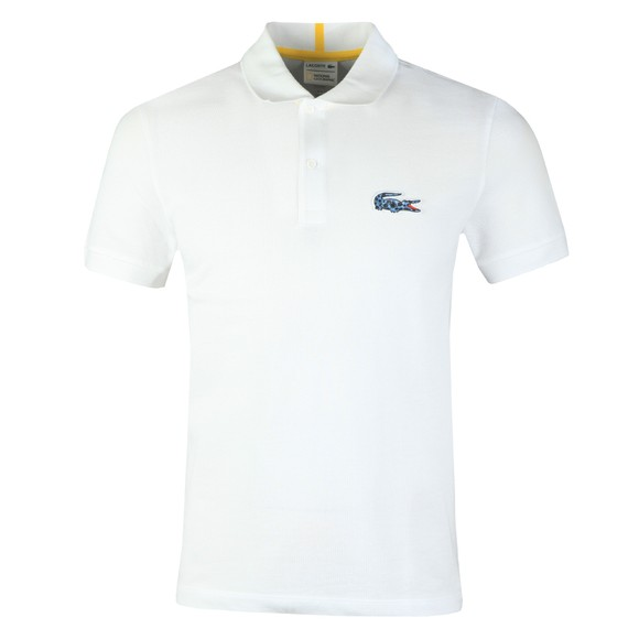 Lacoste x National Geographic Mens White PH6286 Dart Frog Polo main image
