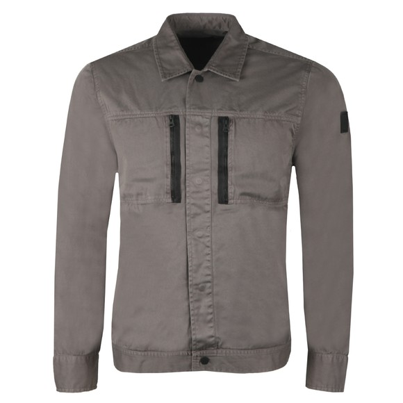 BOSS Mens Grey Casual Lowy Overshirt