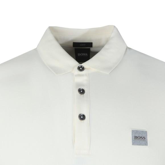 BOSS Mens Off-White Casual Passenger Polo Shirt