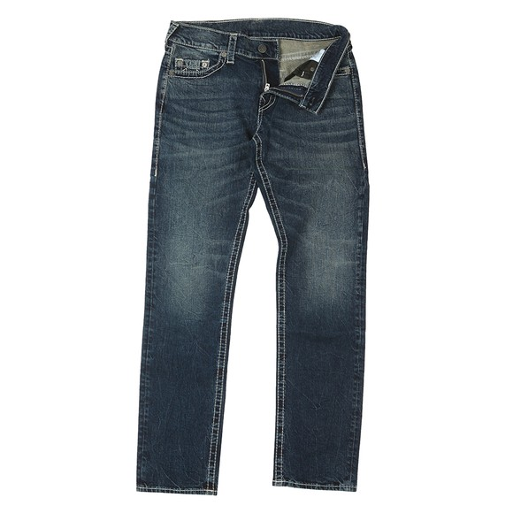 True Religion Mens Blue Geno No Flap Big T Jean
