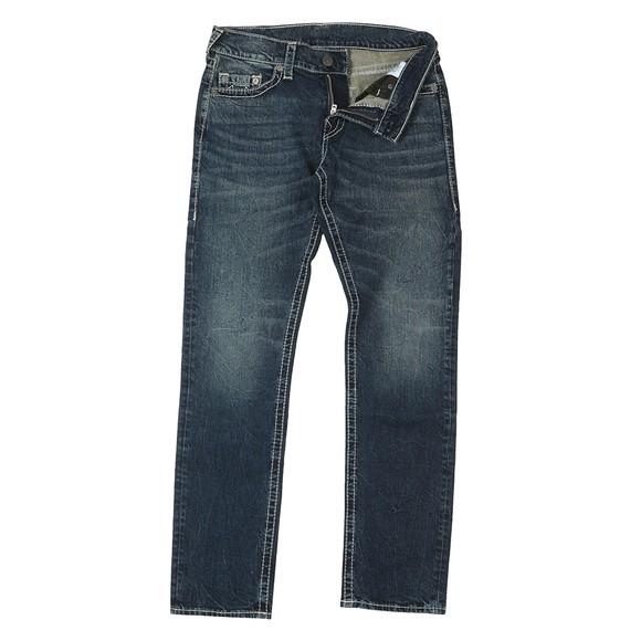 True Religion Mens Blue Geno No Flap Big T Jean