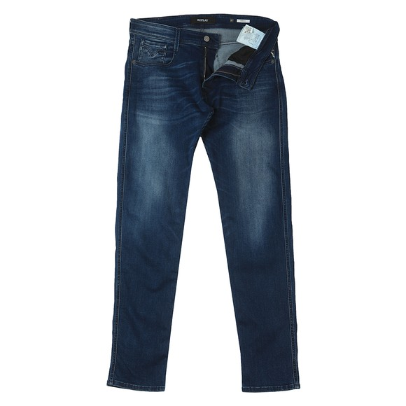 Replay Mens Blue Anbass Slim Jean