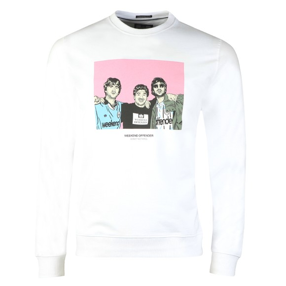 Weekend Offender Mens White Diego Sweatshirt