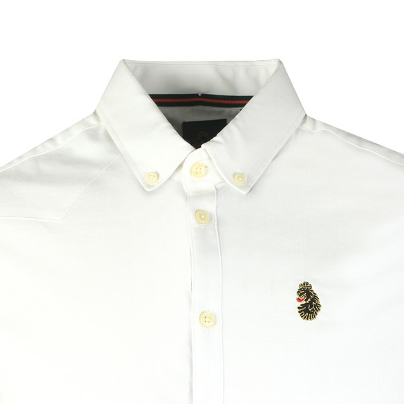 Luke Sport Mens White Cuftwill Tape Detail Shirt