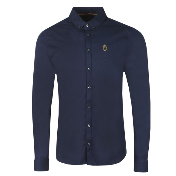 Luke Sport Mens Blue Cuftwill Tape Detail Shirt