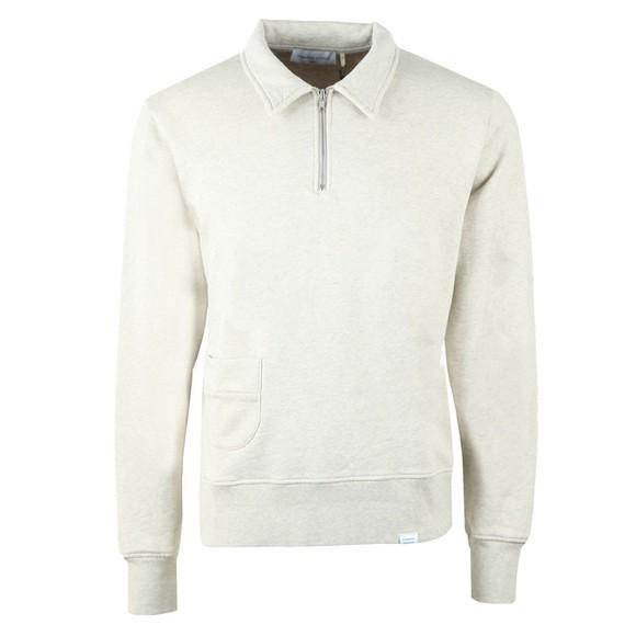 Edmmond Studios Mens Grey Actual Half Zip Sweatshirt