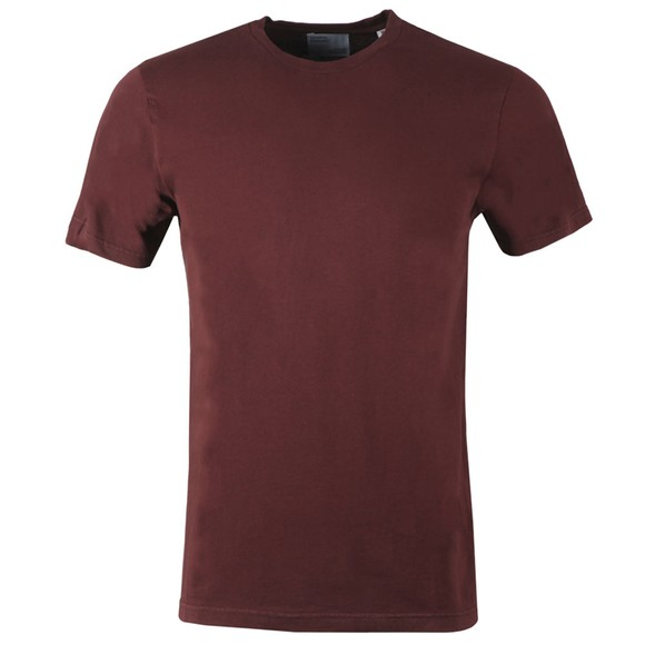 Colorful Standard Mens Red Organic T-Shirt