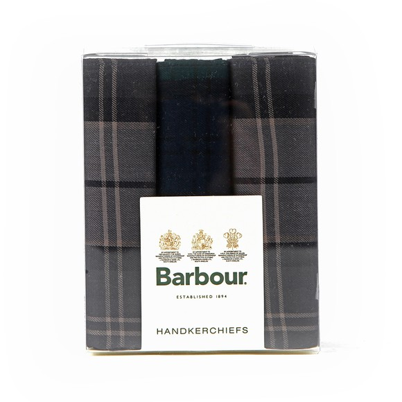 Barbour Lifestyle Mens Blue Tartan Handkerchiefs