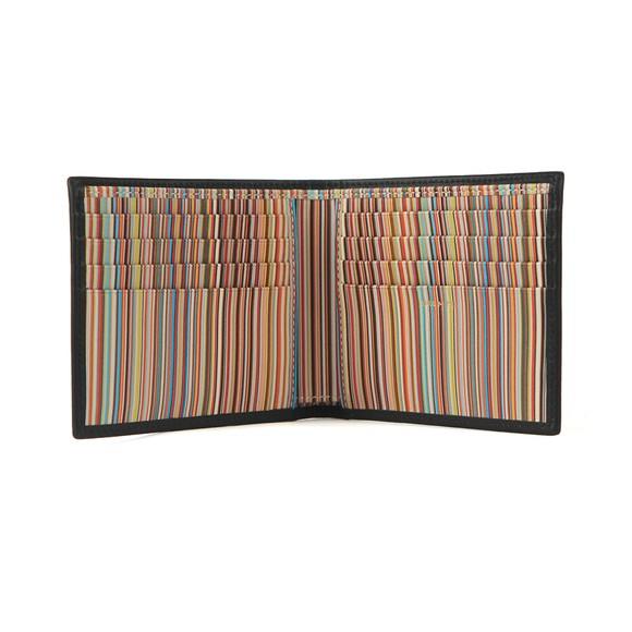 Paul Smith Mens Black Signature Stripe Interior Billfold Wallet
