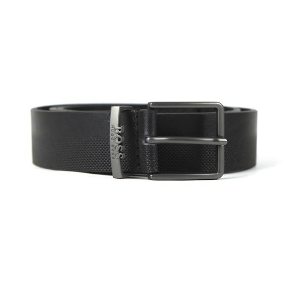 BOSS Mens Black Ther Logo Belt