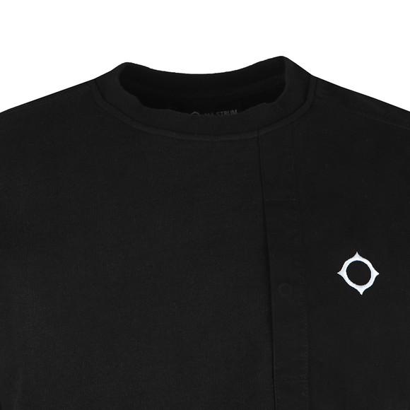 Ma.Strum Mens Black Two Tone Sweatshirt