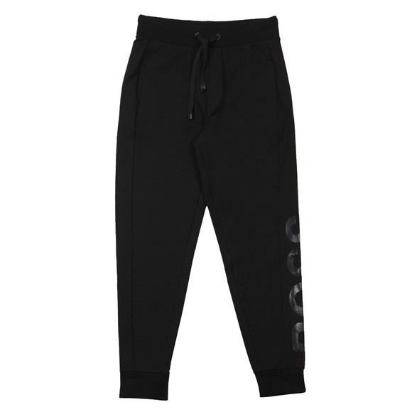 BOSS Bodywear Mens Black Tonal Logo Fashion Jogger