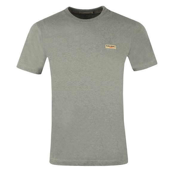 Nudie Jeans Mens Grey Daniel Logo T-Shirt