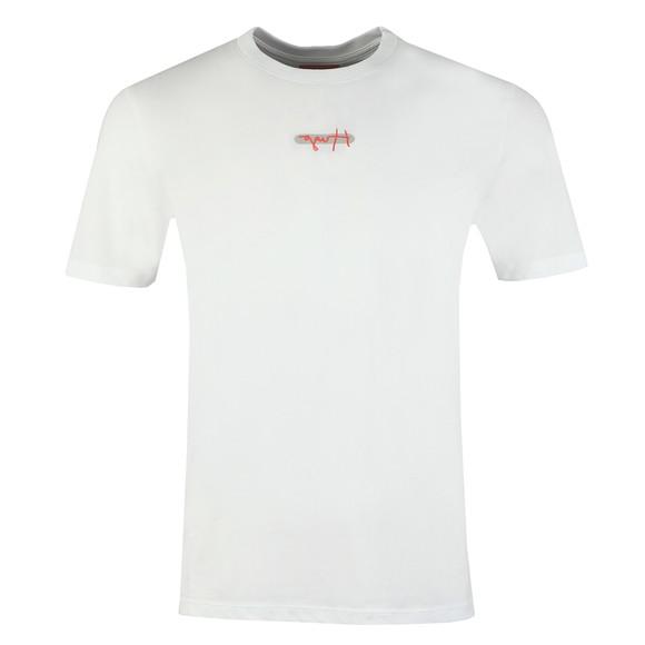 HUGO Mens White Durned T-Shirt