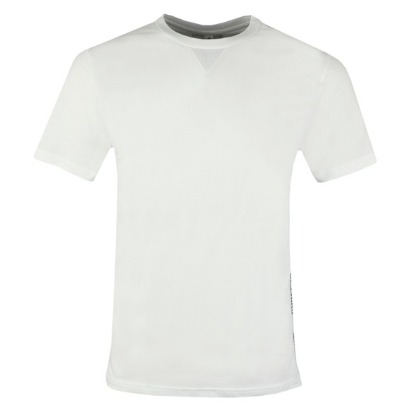 Moschino Mens White Side Tape T Shirt