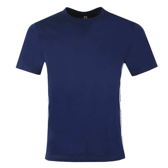 Moschino Mens Blue Side Tape T Shirt