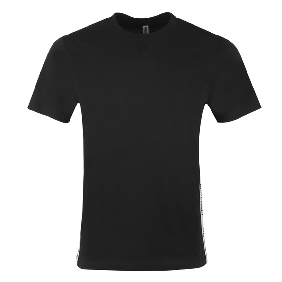 Moschino Mens Black Side Tape T Shirt
