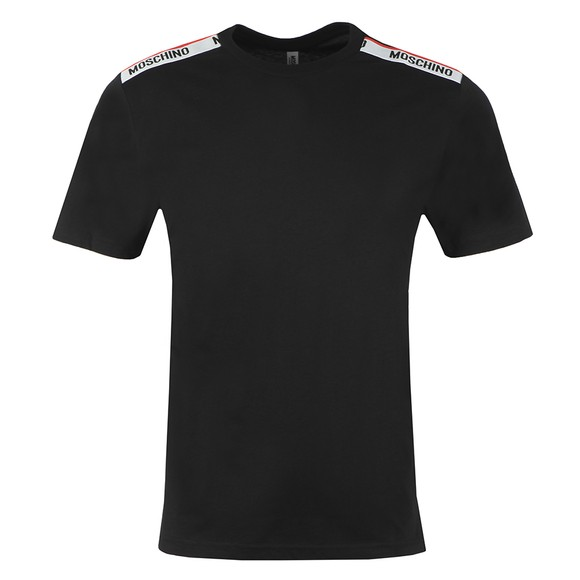 Moschino Mens Black Tape Shoulder T Shirt