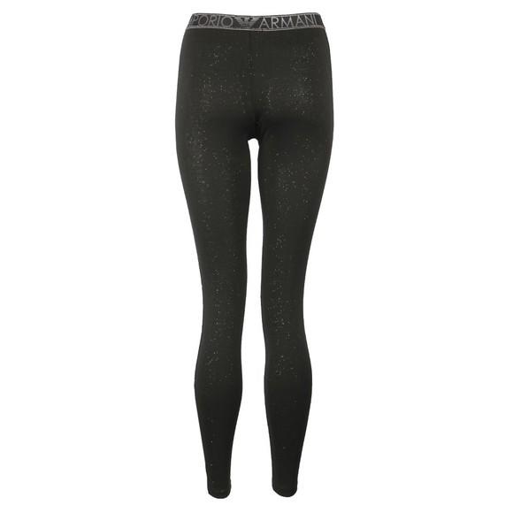 Emporio Armani Womens Black Glitter Legging