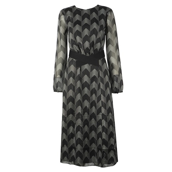 Ted Baker Womens Black Aselli Atlas Double Split Midi Dress