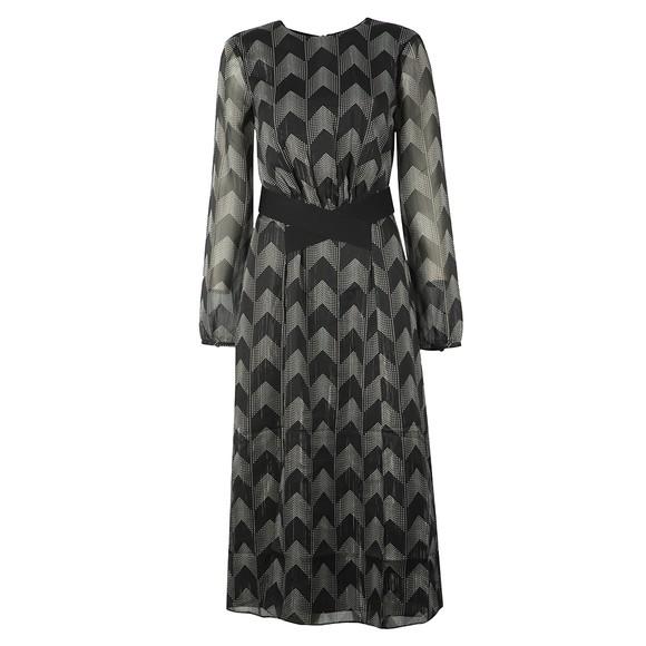 Ted Baker Womens Black Aselli Atlas Double Split Midi Dress