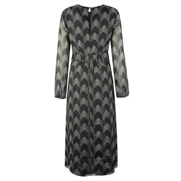 Ted Baker Womens Black Aselli Atlas Double Split Midi Dress main image