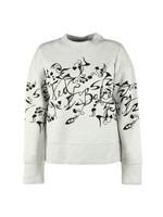 Lyhndi Bergamot Flocked Sweatshirt
