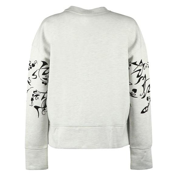 Ted Baker Womens Off-White Lyhndi Bergamot Flocked Sweatshirt main image