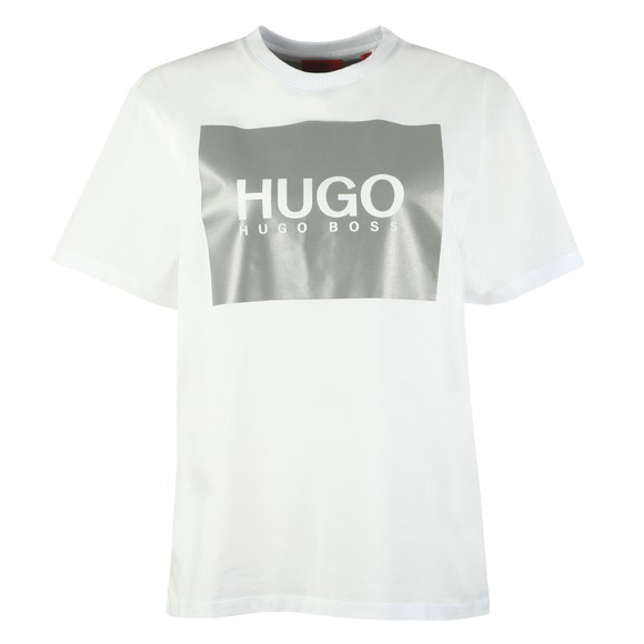 HUGO Womens White The Boyfriend T-Shirt