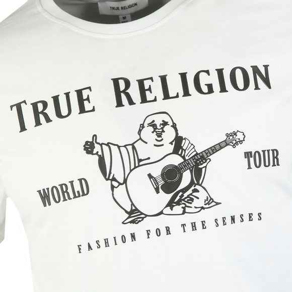 True Religion Mens White Chad Core Logo T-Shirt