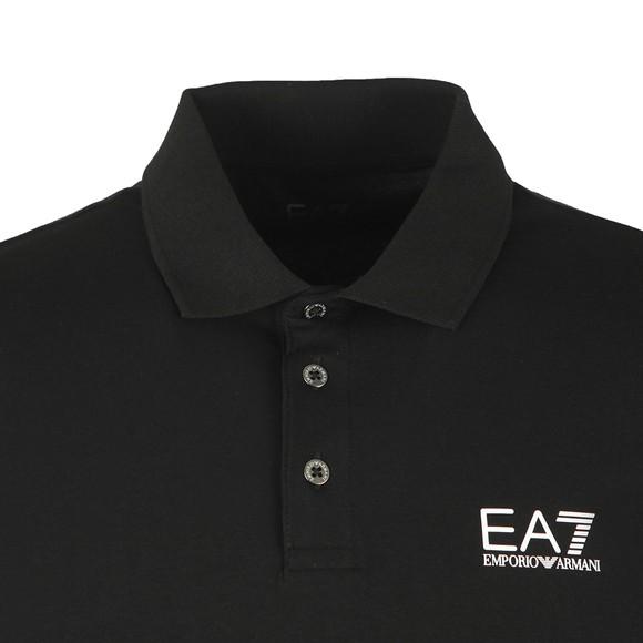 EA7 Emporio Armani Mens Black Small Logo Polo Shirt