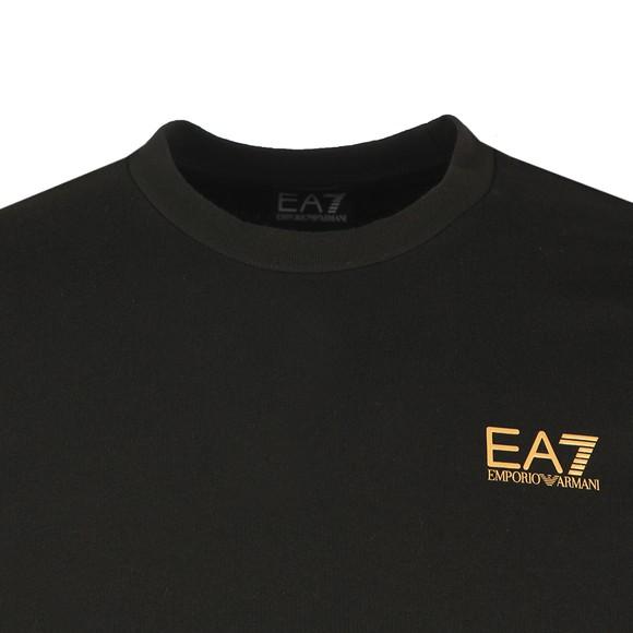 EA7 Emporio Armani Mens Black Logo Sweatshirt main image
