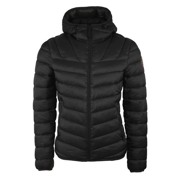 Napapijri Mens Black Aerons Hooded Jacket
