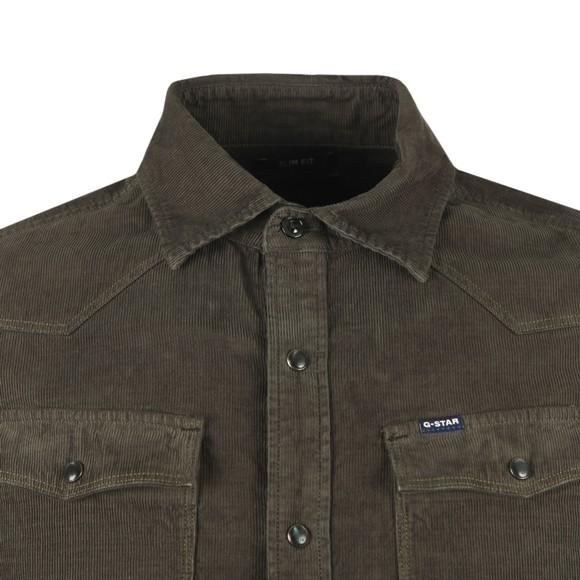 G-Star Mens Green 3301 Corduroy Shirt
