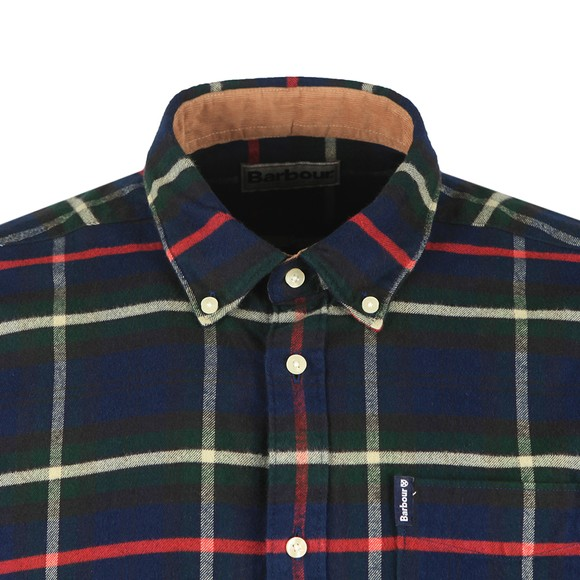 Barbour Lifestyle Mens Blue Highland Check 19 Shirt