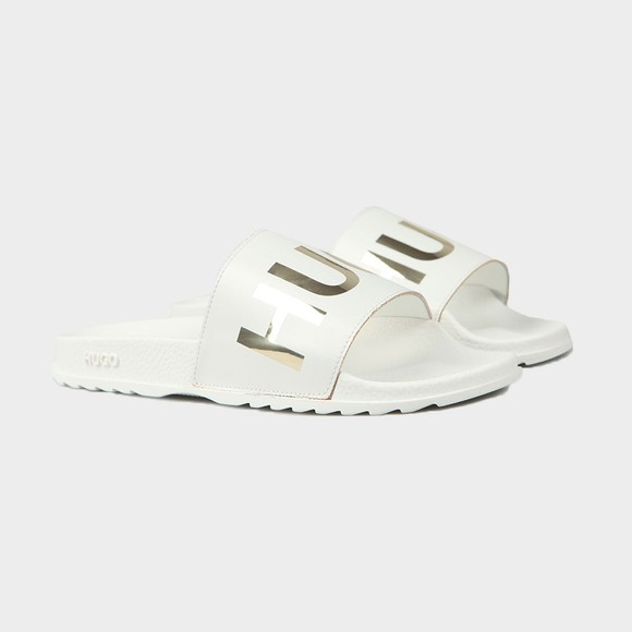HUGO Womens White Match Slide