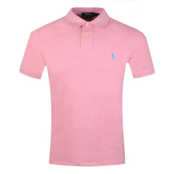 Polo Ralph Lauren Mens Pink Slim Fit Polo Shirt