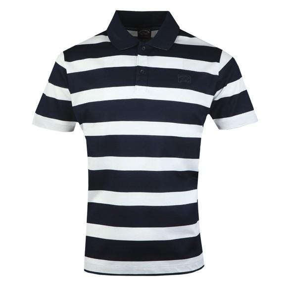 Paul & Shark Mens Blue Large Striped Polo Shirt