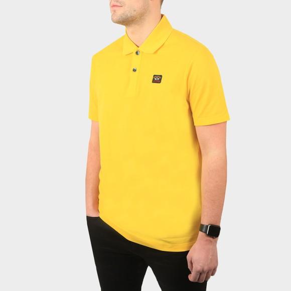 Paul & Shark Mens Yellow Chest Badge Polo Shirt
