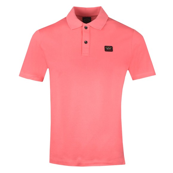 Paul & Shark Mens Pink Chest Badge Polo Shirt