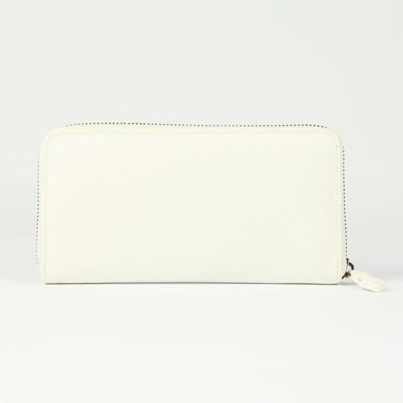 Valentino by Mario Womens White Divina Zip Around Purse
