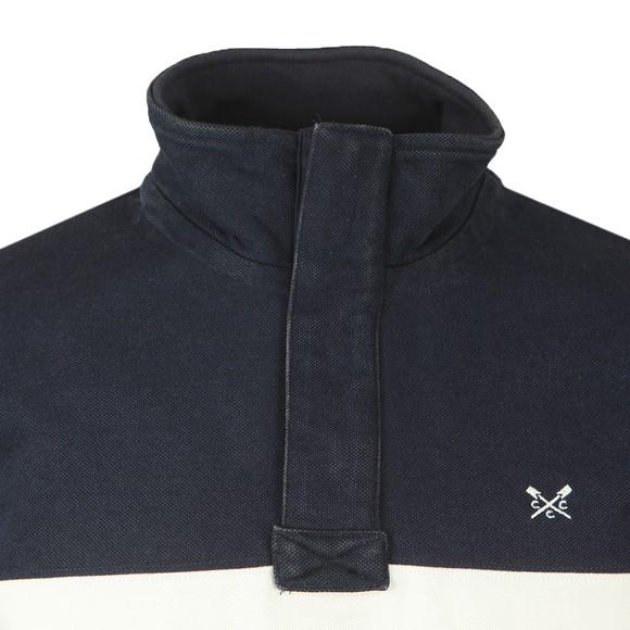 Crew Clothing Company Mens Blue Twill Panel Padstow Sweatshirt main image