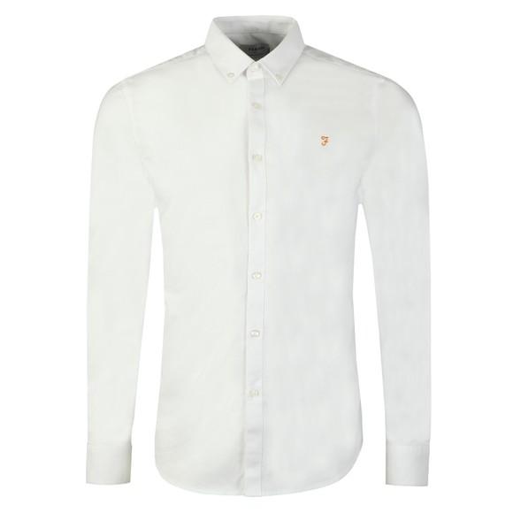 Farah Mens White Brewer Shirt