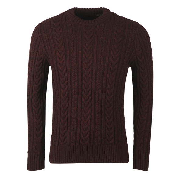 Superdry Mens Purple Jacob Cable Jumper