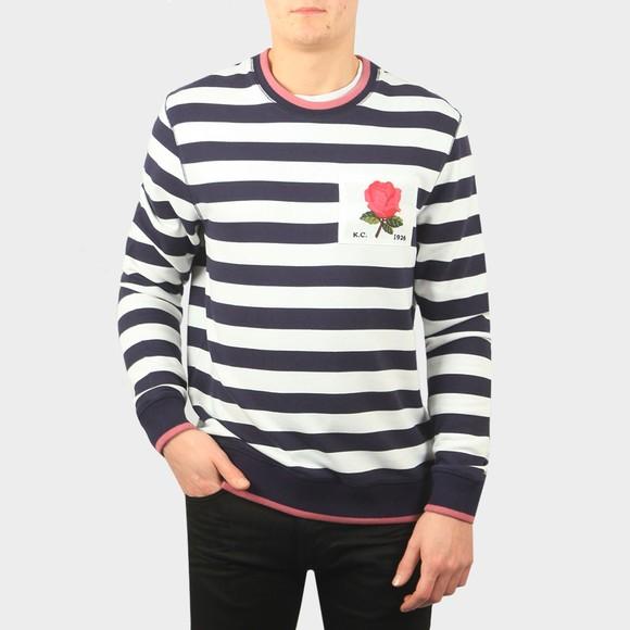 Kent & Curwen Mens Blue Wellington YD Stripe Sweatshirt