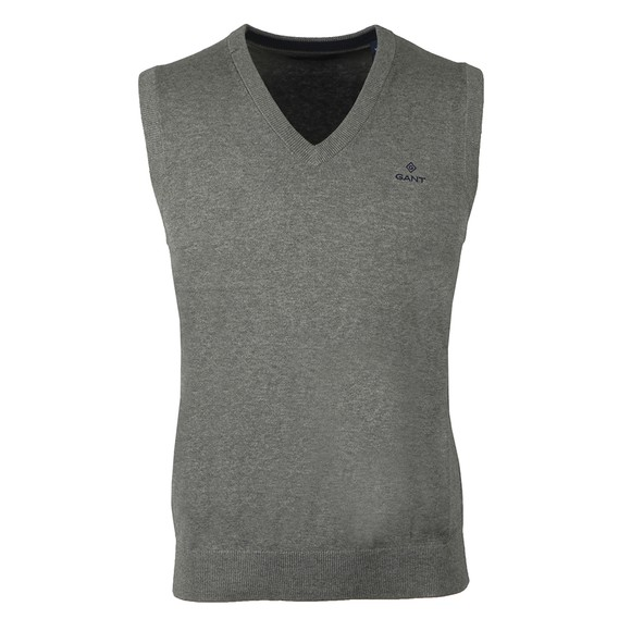Gant Mens Grey Cotton Slipover