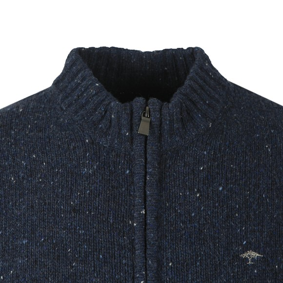 Fynch Hatton Mens Blue Zipped Cardigan