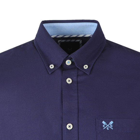Crew Clothing Company Mens Blue Heritage SS Oxford Shirt