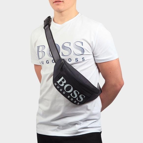 BOSS Mens Blue Magnif214 Cross-Body Bag