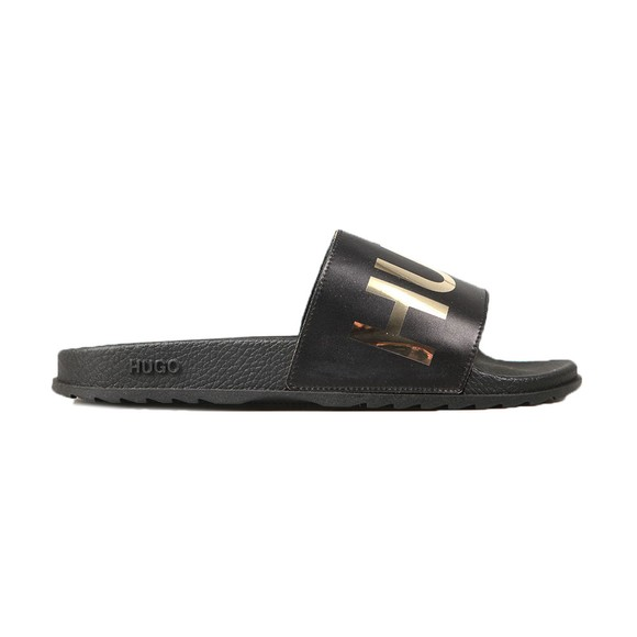 HUGO Womens Black Match Slide